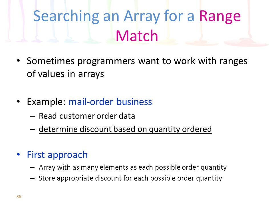 Searching an Array for a Range Match