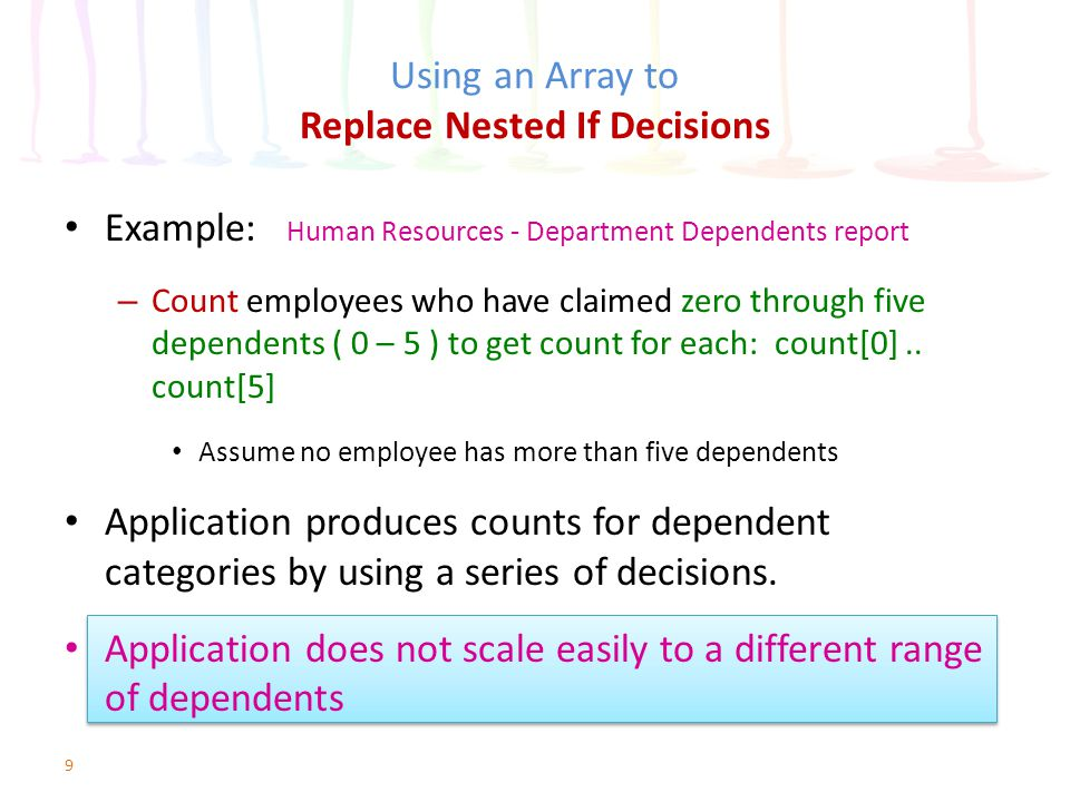 Using an Array to Replace Nested If Decisions