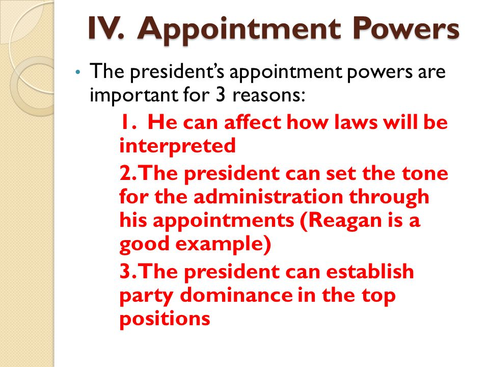 the two areas of the presidents power of appointment To that article led to discussions of a different estate planning technique known as a power of appointment there are two types of powers of appointment: and business clients in the areas of business transactions and estate planning.