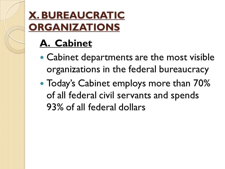 X. BUREAUCRATIC ORGANIZATIONS