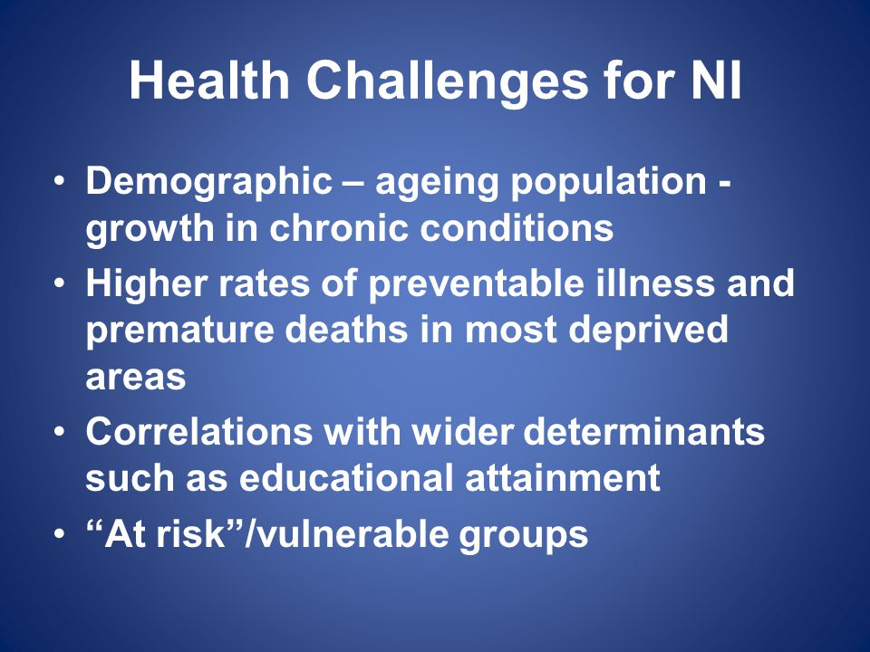 Health Challenges for NI