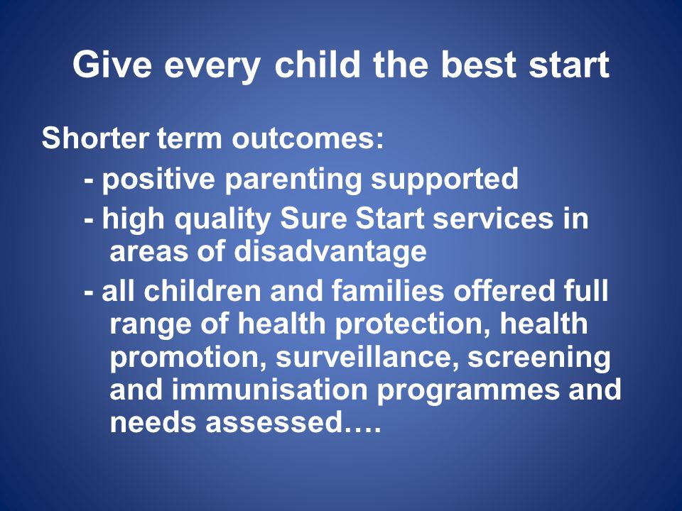 Give every child the best start