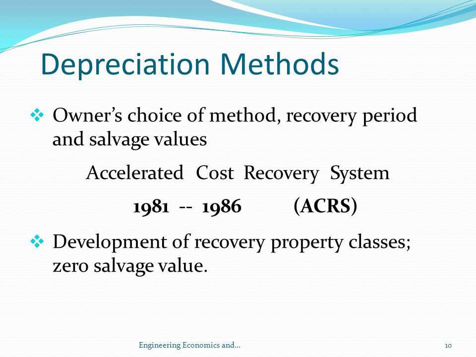 Accelerated Cost Recovery System