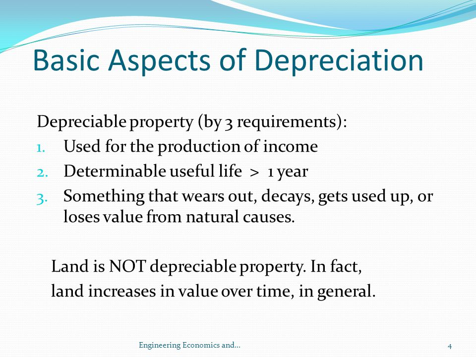 Basic Aspects of Depreciation