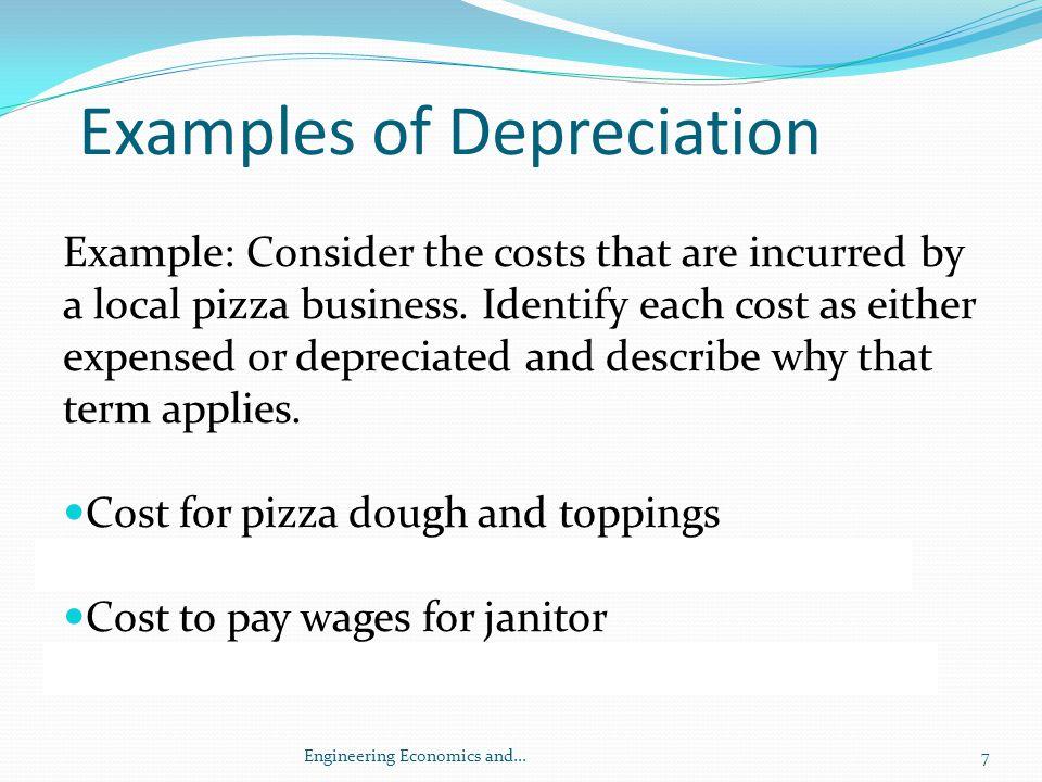 Examples of Depreciation