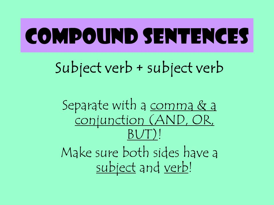 Subject verb + subject verb
