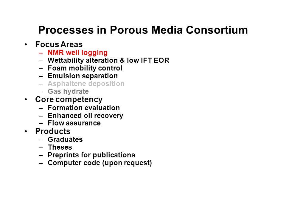Processes in Porous Media Consortium