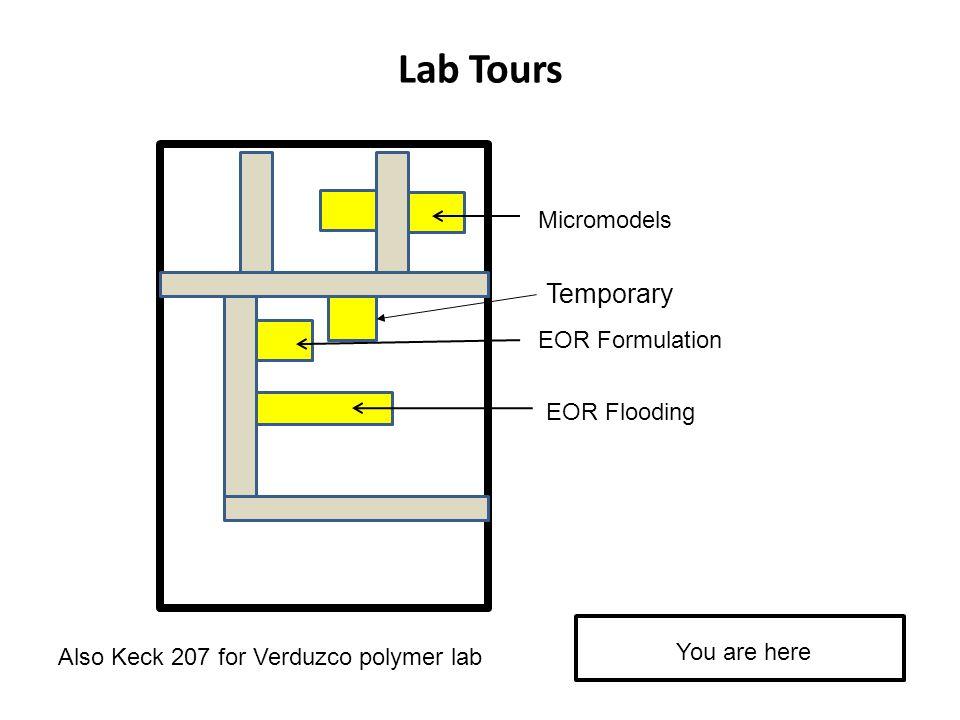 Lab Tours Temporary Micromodels EOR Formulation EOR Flooding