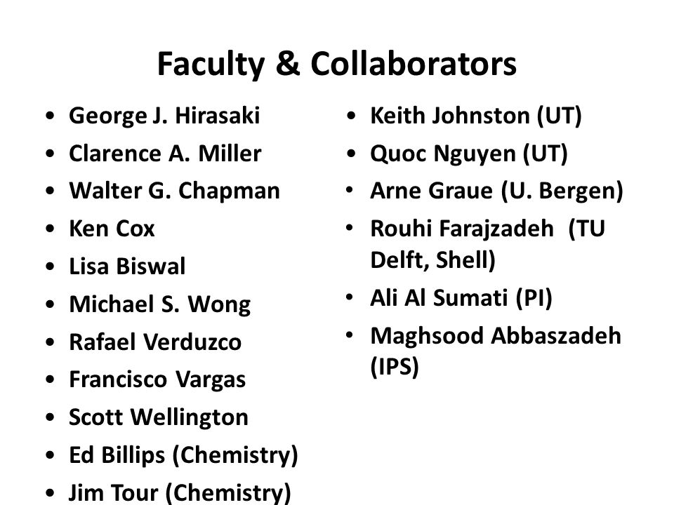Faculty & Collaborators