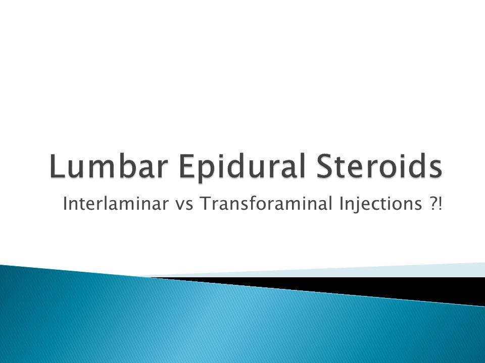 Lumbar Epidural Steroids