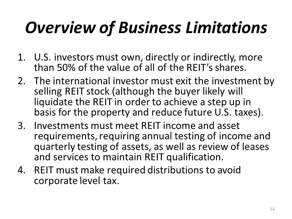 Overview of Business Limitations