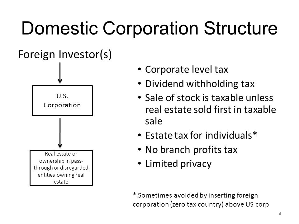 Domestic Corporation Structure