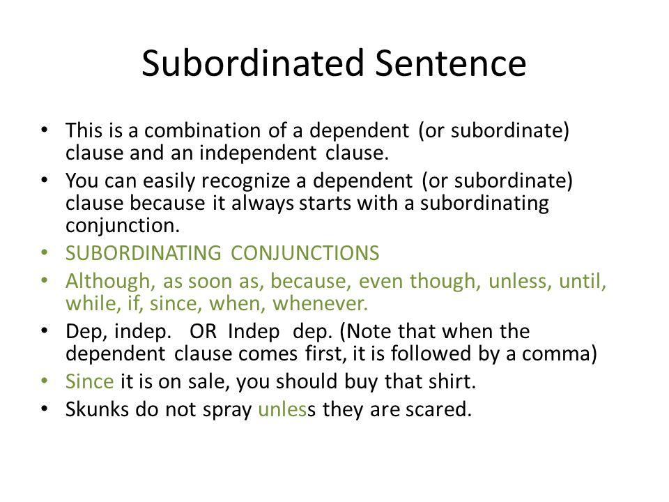 Subordinated Sentence