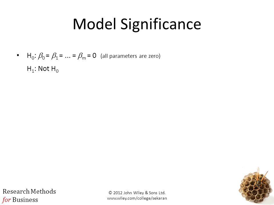 Model Significance H1: Not H0
