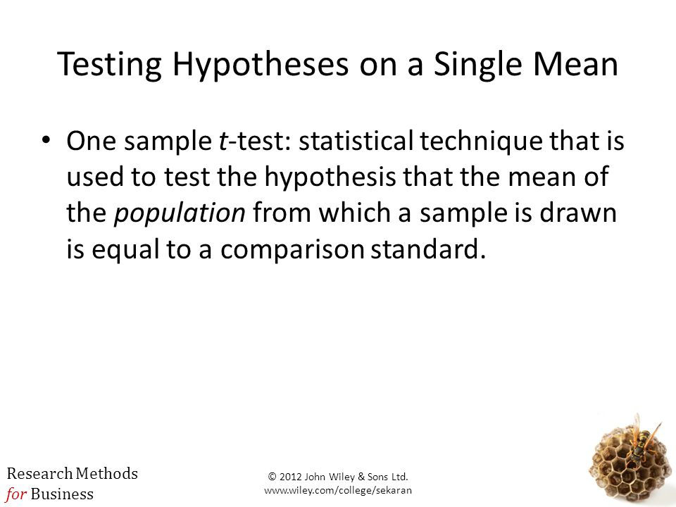 Testing Hypotheses on a Single Mean