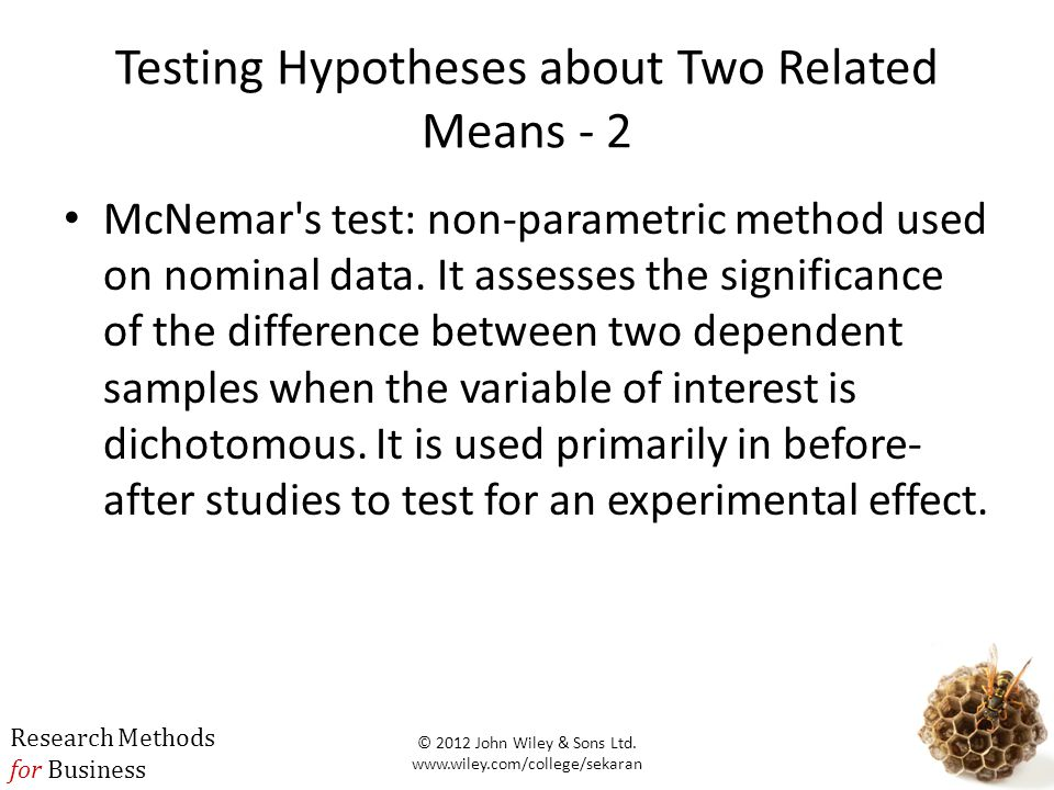 Testing Hypotheses about Two Related Means - 2