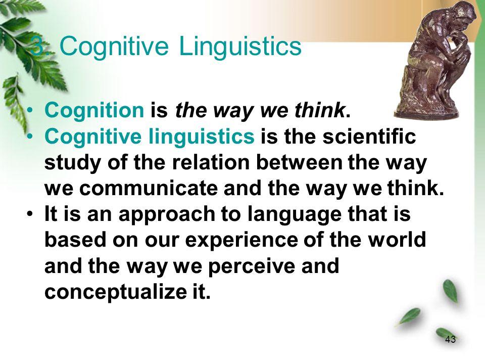 3. Cognitive Linguistics