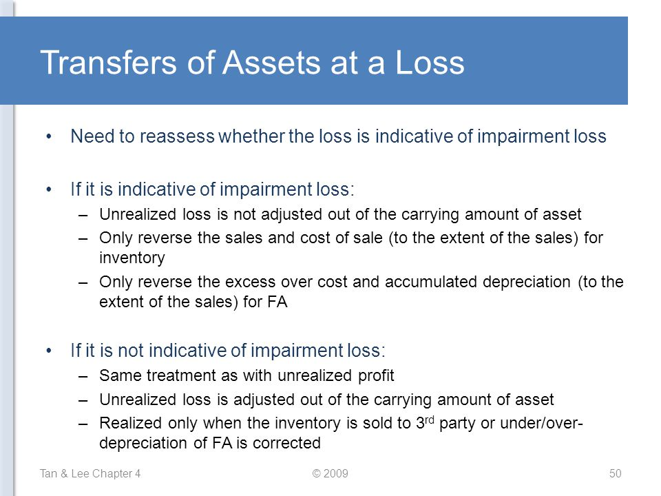 Transfers of Assets at a Loss