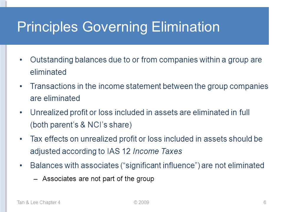 Principles Governing Elimination