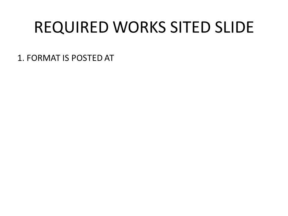 REQUIRED WORKS SITED SLIDE