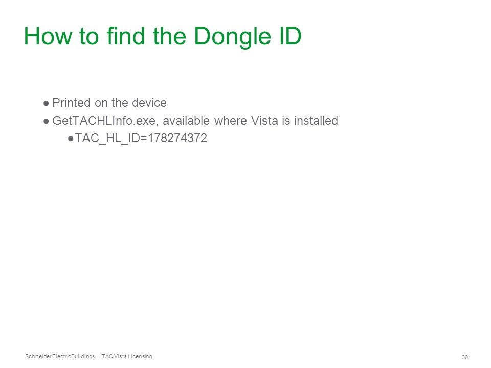 How to find the Dongle ID