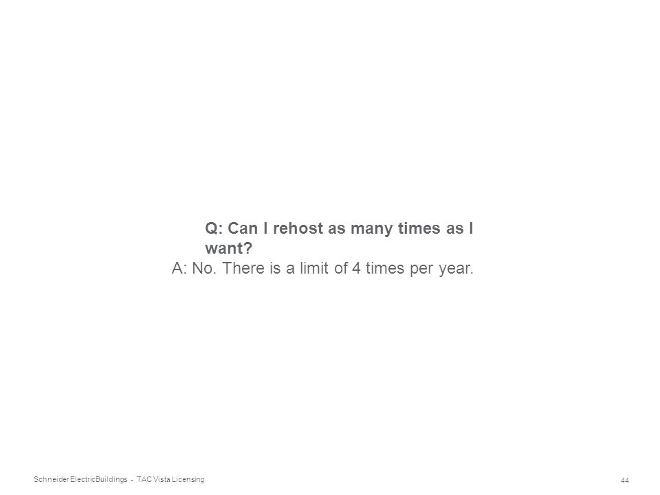Q: Can I rehost as many times as I want