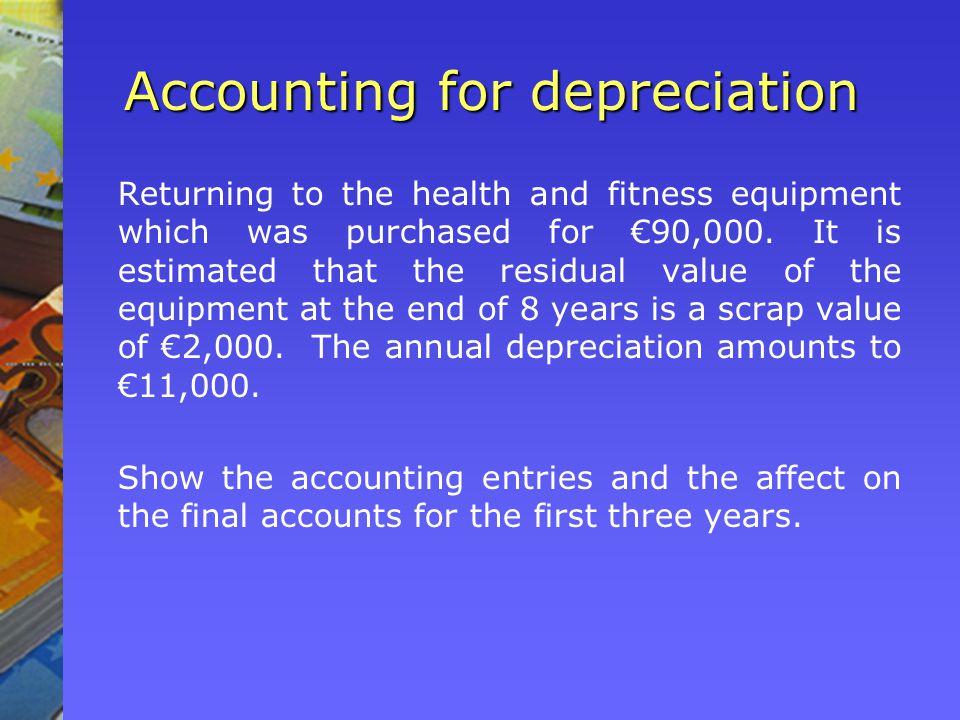 Accounting for depreciation