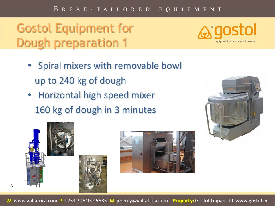 Gostol Equipment for Dough preparation 1