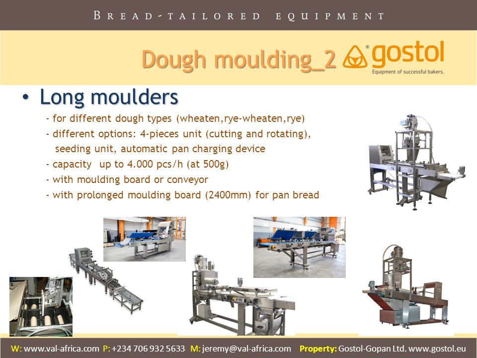 Dough moulding_2 Long moulders
