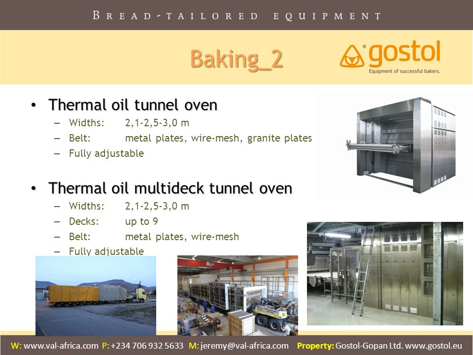 Baking_2 Thermal oil tunnel oven Thermal oil multideck tunnel oven