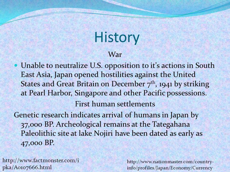 First human settlements