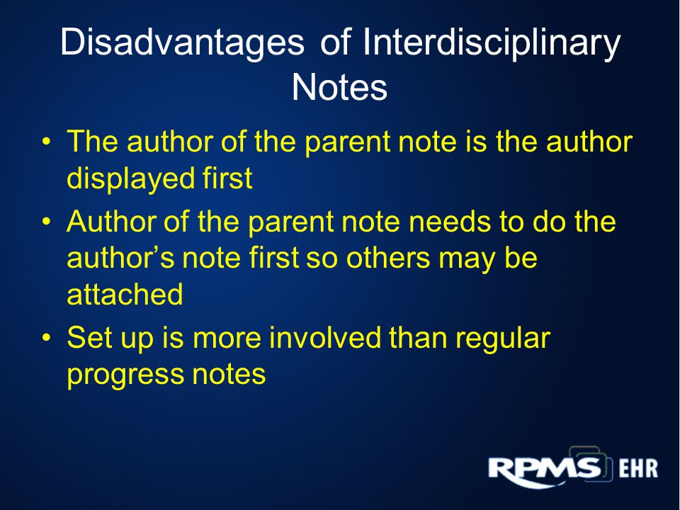 Disadvantages of Interdisciplinary Notes