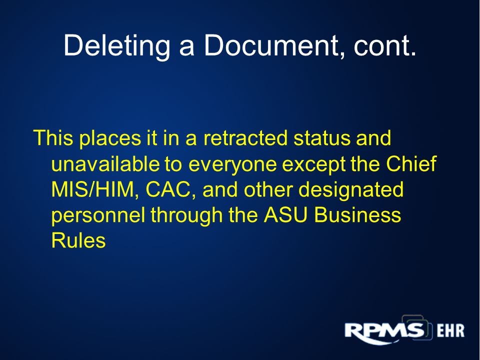 Deleting a Document, cont.