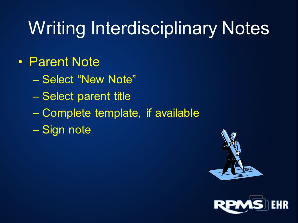 Writing Interdisciplinary Notes