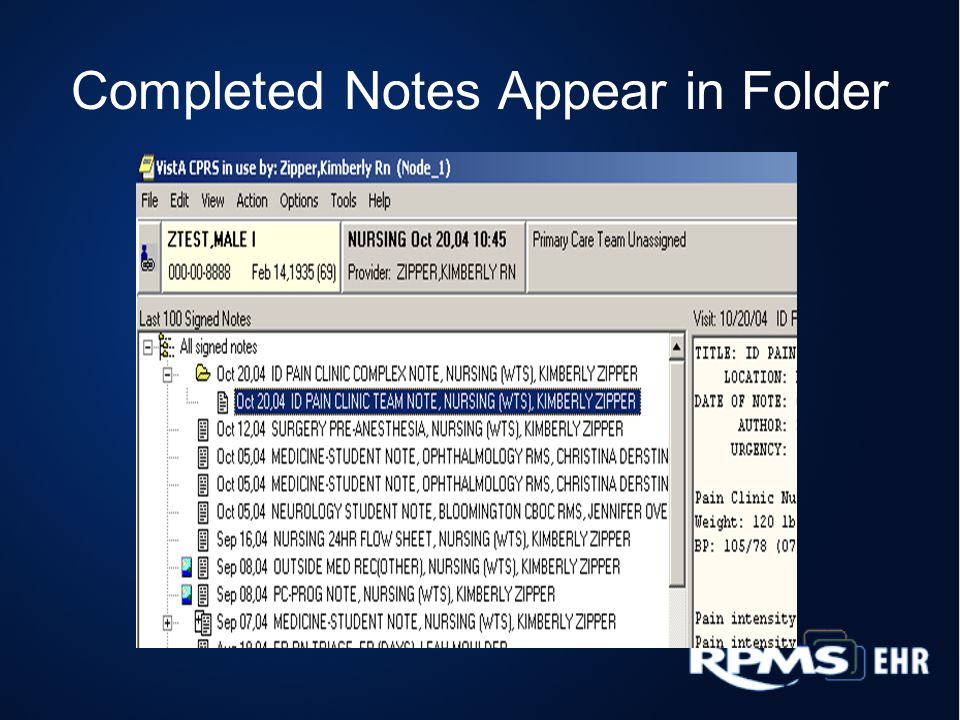 Completed Notes Appear in Folder