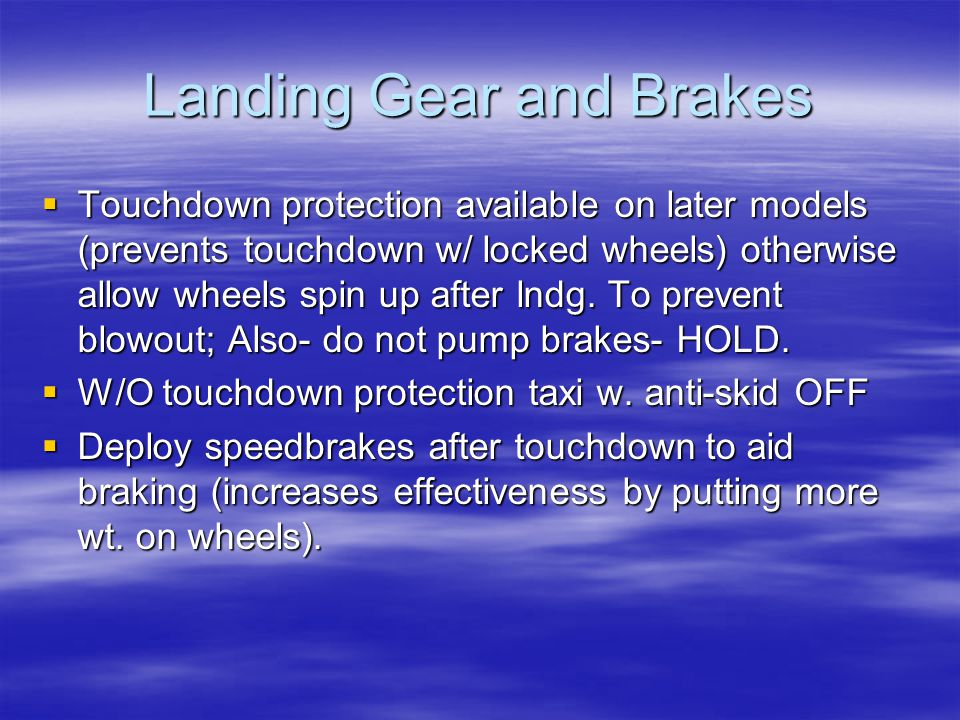 Landing Gear and Brakes