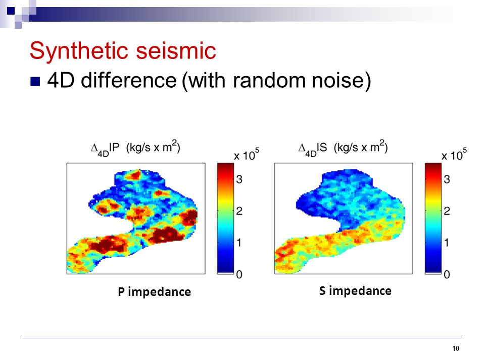 Synthetic seismic 4D difference (with random noise) P impedance