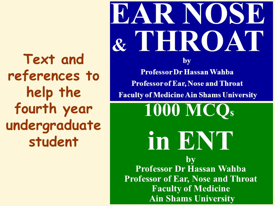 EAR NOSE & THROAT by in ENT 1000 MCQs
