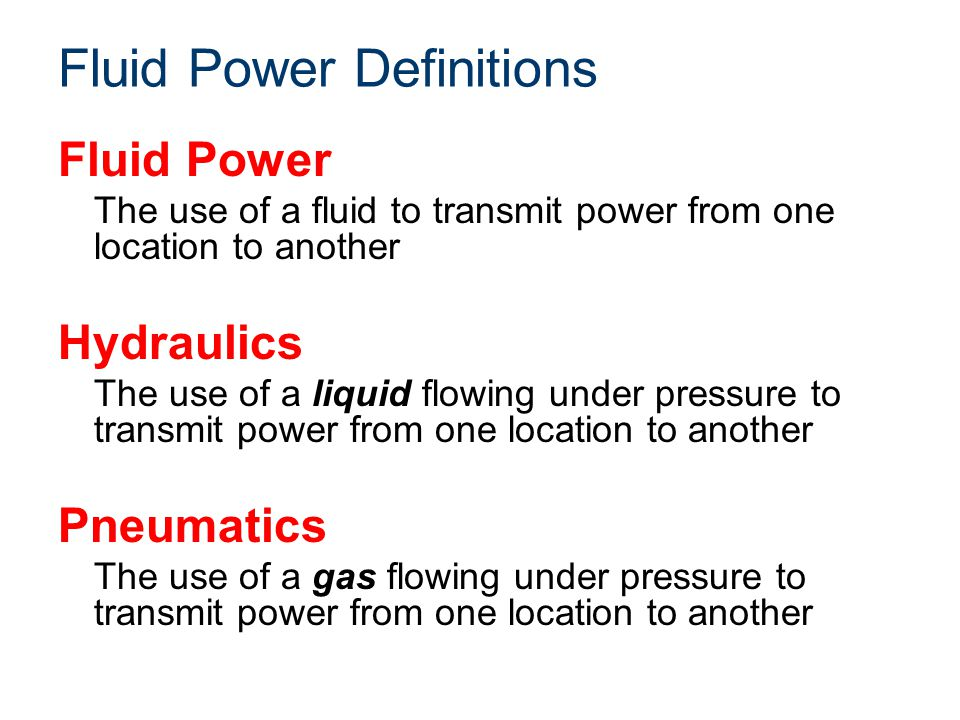 Fluid Power Definitions
