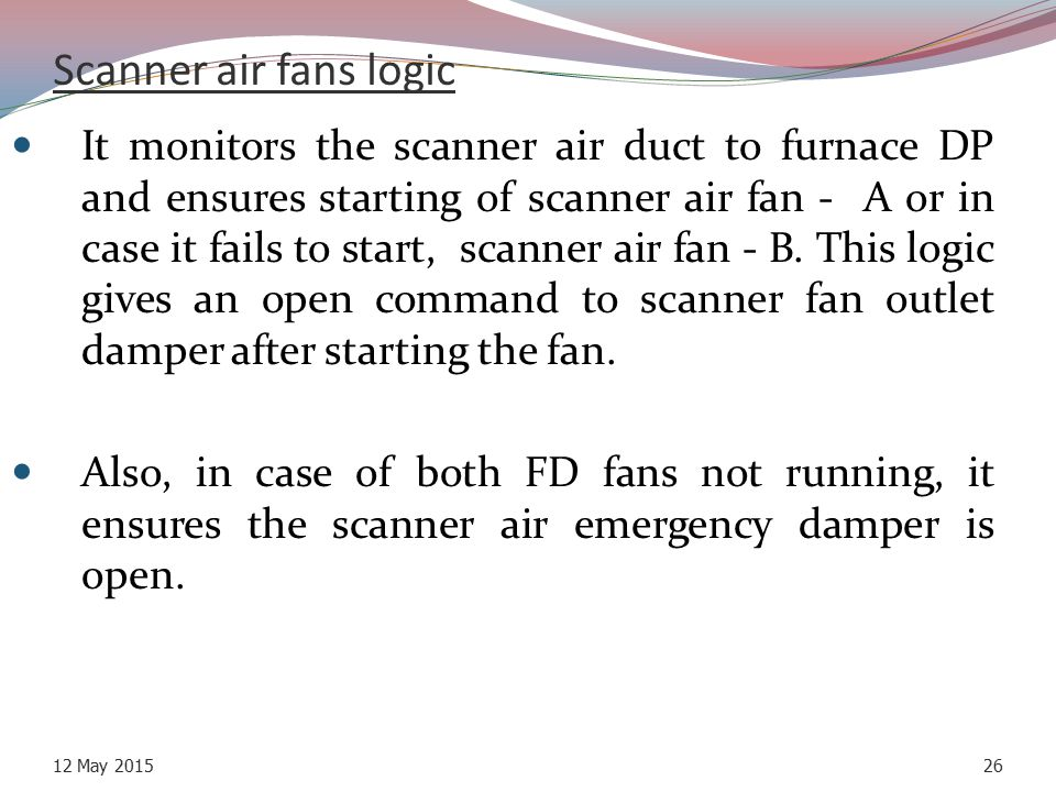 Scanner air fans logic