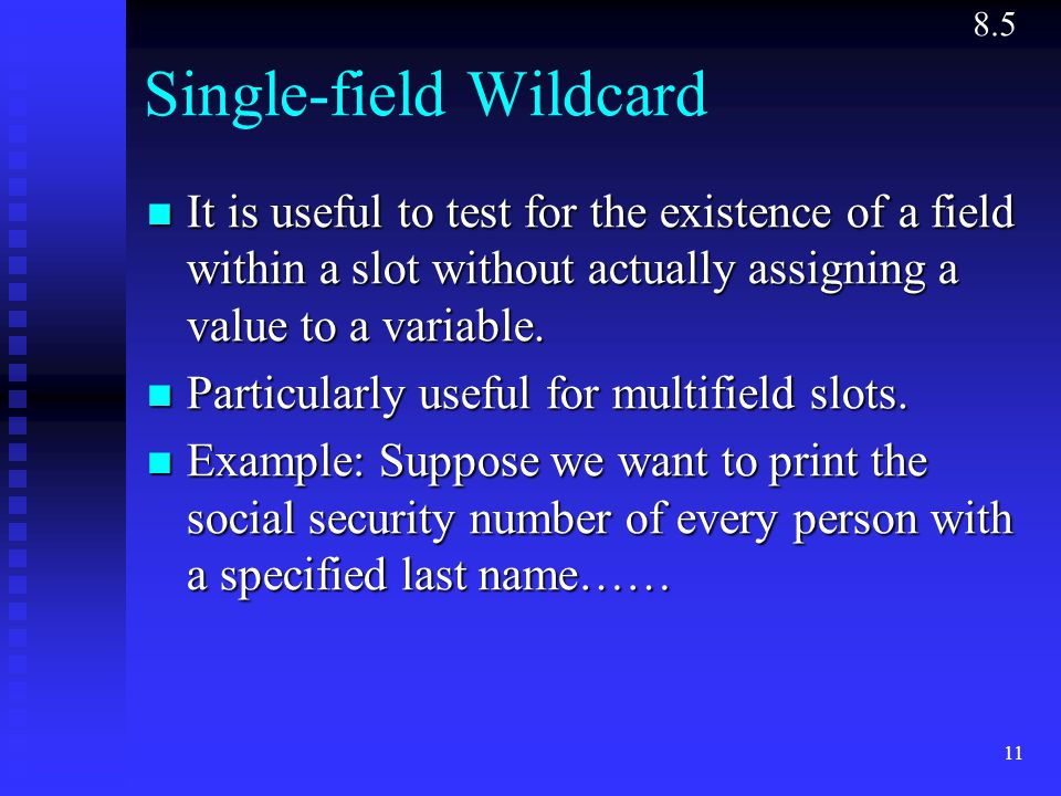 Single-field Wildcard