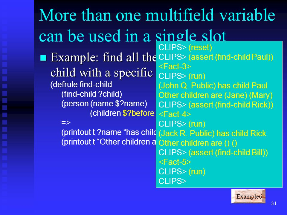 More than one multifield variable can be used in a single slot