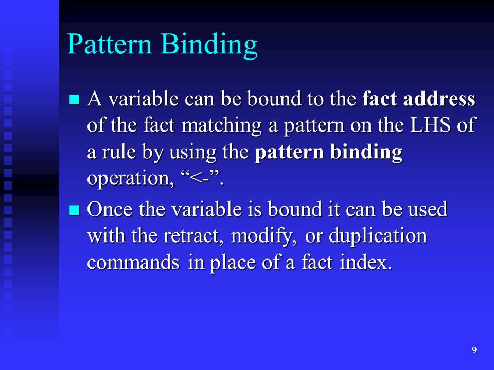 Pattern Binding