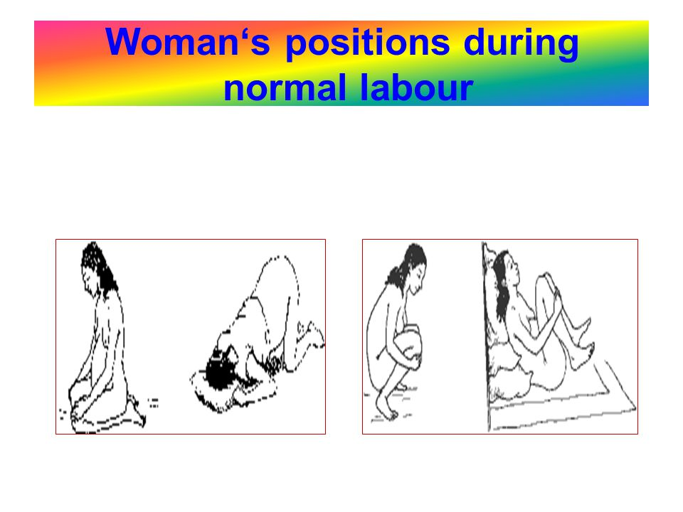 Woman's positions during normal labour