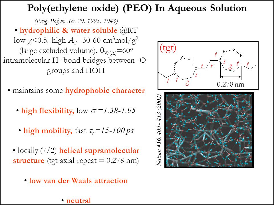 Poly(ethylene oxide) (PEO) In Aqueous Solution