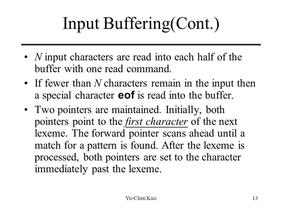 Input Buffering(Cont.)