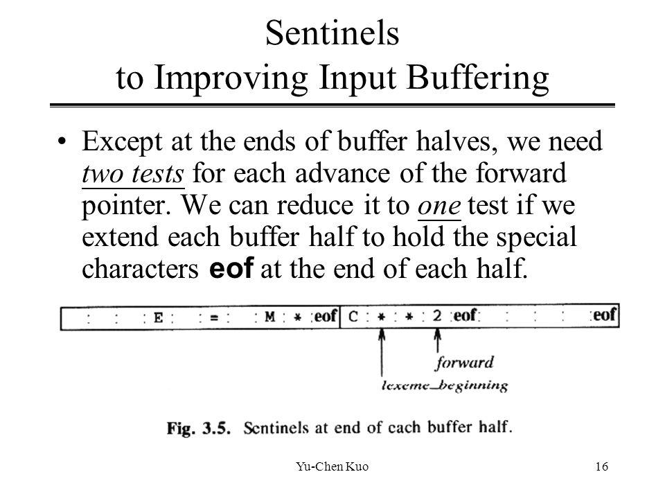 Sentinels to Improving Input Buffering