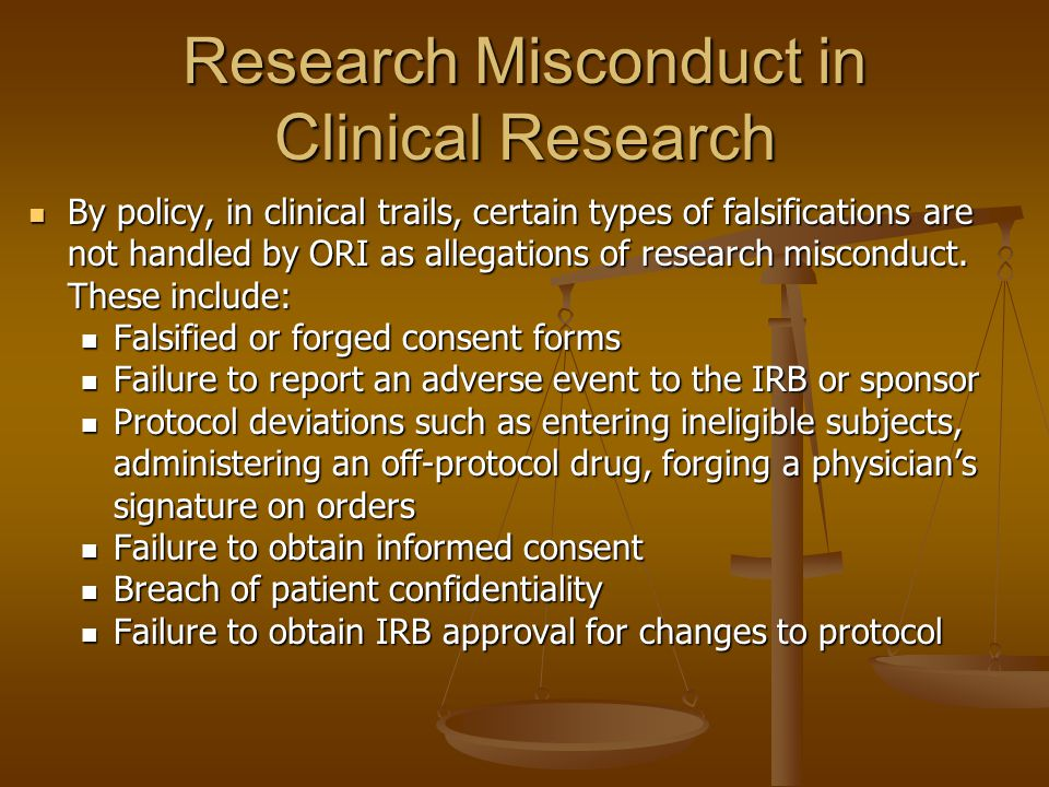 Research Misconduct in Clinical Research