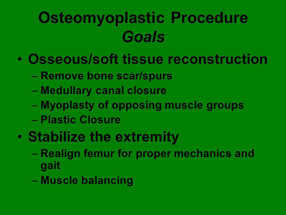 Osteomyoplastic Procedure Goals