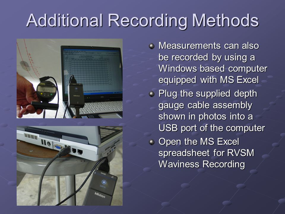 Additional Recording Methods